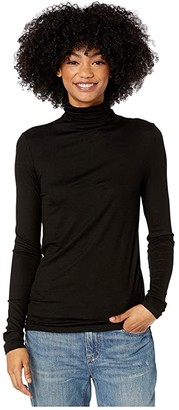 AG Jeans Chels Turtleneck (True Black) Women's Clothing