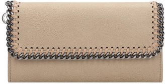 Stella McCartney Flap Wallet Wallet In Beige Faux Leather
