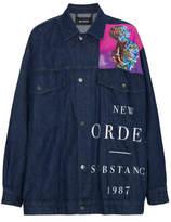 Raf Simons X New Order Printed Denim Jacket - Blue - XL