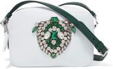 Rochas Claudine crystal-embellished leather shoulder bag