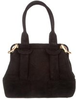 Judith Leiber Suede Handle Bag