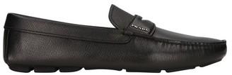 Prada Saffiano leather Triangle moccasin