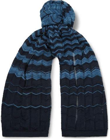 Missoni Crochet-Knit Cotton Scarf
