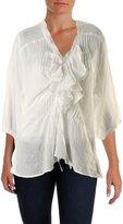 Denim & Supply Ralph Lauren Womens Cotton 3/4 Sleeves Pullover Top L