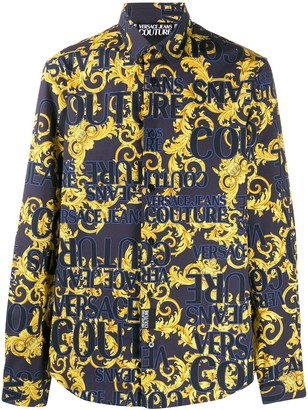 Versace Jeans Couture Logo Baroque-print shirt