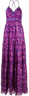 BA&SH Kemi floral print maxi dress