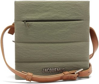 Jacquemus Carre Leather Shoulder Bag - Khaki