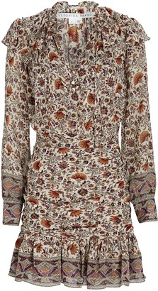 Veronica Beard Jaylene Paisley Silk Mini Dress