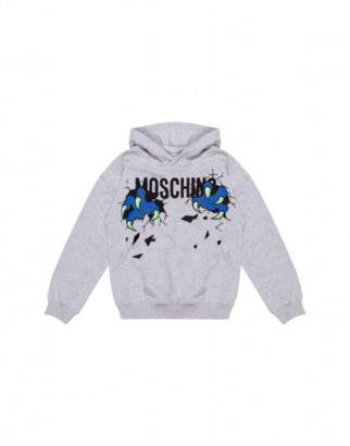 Moschino Monster Hands Sweatshirt Unisex Grey Size 4a It - (4y Us)