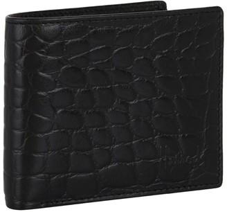 Harrods Crocodile-Embossed Leather Bilfold Wallet