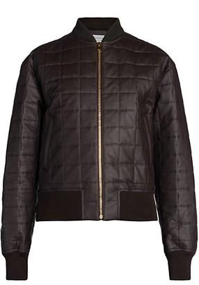 Bottega Veneta Quilted Leather & Silk Bomber Jacket