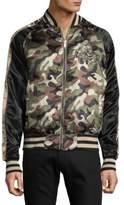 Members Only Reversible Camo Zip-Front Bomber Jacket
