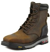 """Justin Boots Commander X5 8"""" Lace Up Men Steel Toe Leather Brown Work Boot."""