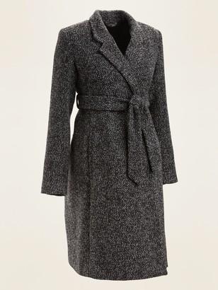 Old Navy Maternity Textured Tie-Belt Overcoat