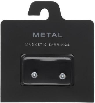 Simulated Crystal Nickel Free Magnetic Stud Earrings