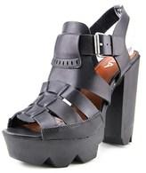 Mia Luka Open Toe Synthetic Platform Heel.