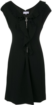Carven ruffle zip dress