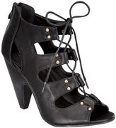 Black Studded Roman Sandal