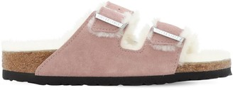 Birkenstock Arizona Suede & Shearling Sandals