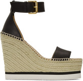 See by Chloe Black Wedge Espadrilles