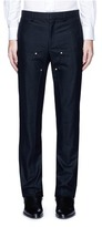 Givenchy Rivet patchwork panel wool flannel pants