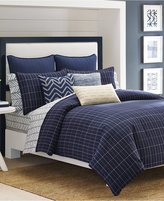 "Nautica Brindley 18"" Square Pieced Decorative Pillow"