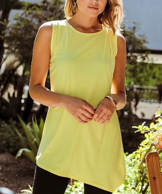 Milly Penzance Women's Tunics yellow - Yellow Asymmetric-Hem Sleeveless Tunic - Women & Plus