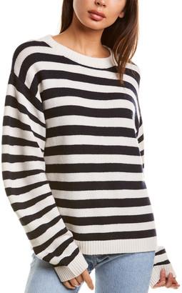 Autumn Cashmere Stripe Cashmere & Wool-Blend Sweater