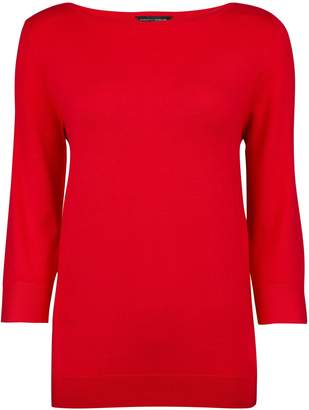 Dorothy Perkins Womens Red 3/4 Button Sleeve Jumper, Red