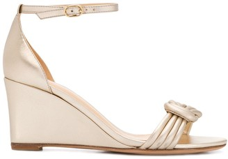 Alexandre Birman Vicky knotted wedge sandals
