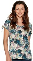 M&Co Tropical tie sleeve top