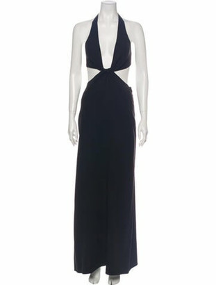 Celine Silk Long Dress Black