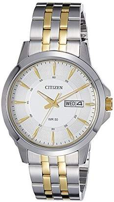 Citizen Men's Quartz Watch with Black Dial Analogue Display Quartz Stainless Steel BF2018 52AE
