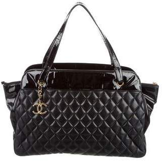 Chanel Quilted Shopper Tote