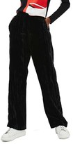 Topshop Women's Wide Leg Velvet Pants