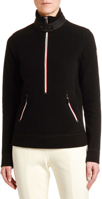 MONCLER GRENOBLE Quarter Zip Fleece Pullover