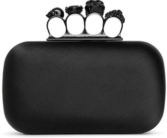 Alexander McQueen Skull four ring box clutch