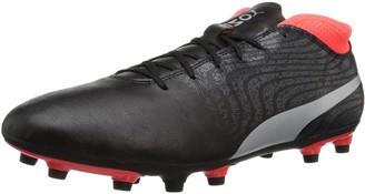Puma Men's One 18.4 Fg Soccer Shoe Black Black-Asphalt 8.5 M US