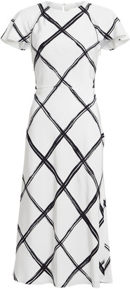 Jason Wu Collection Windowpane Silk Crepe Dress