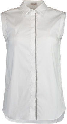 Brunello Cucinelli Sleeveless Button Up Blouse