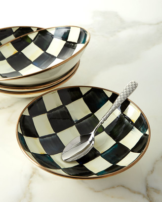 Mackenzie Childs MacKenzie-Childs Courtly Check Enamel Soup Coupe