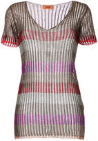 Missoni metallic striped blouse