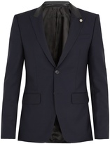 Givenchy Contrast-lapel wool jacket
