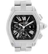 Cartier Roadster W62020X6 Stainless Steel Black Dial 43mm Mens Watch