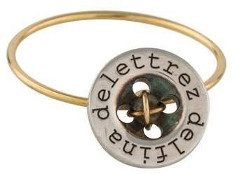 Delfina Delettrez Two-Tone Button Ring