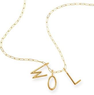 Sarah Chloe Amelia Long Link Initial Necklace