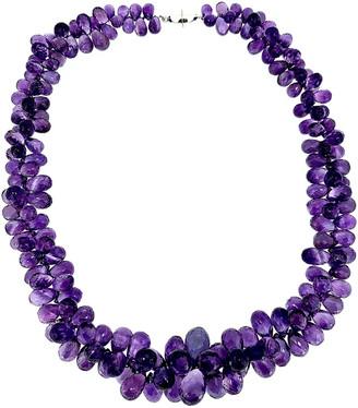 Arthur Marder Fine Jewelry Silver Amethyst Briolette Necklace