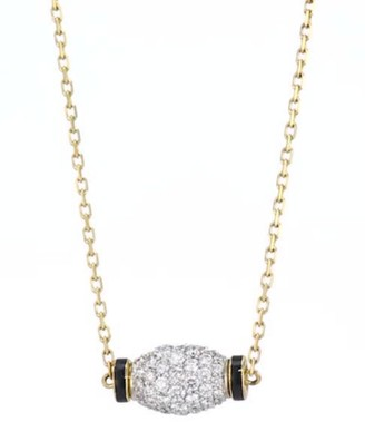 David Webb Motif 18K Yellow Gold, Diamond, & Platinum Night Cap Necklace
