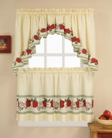"""CHF Red Delicious 24"""" Window Tier & Swag Valance Set"""
