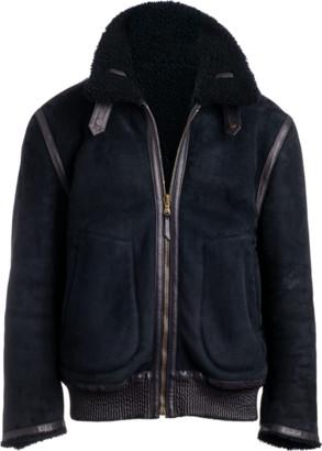Arjé The Neptune II Reversible Shearling Jacket In Sapphire